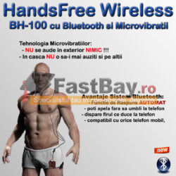 Cască de copiat cu Bluetooth si microvibraţii