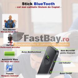 Stick Bluetooth cu cască de copiat fără fire